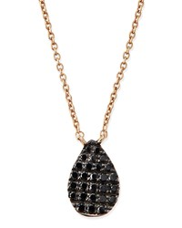 Rose Gold Black Diamond Teardrop Necklace Diane Kordas Pink