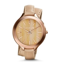 Michael Kors Slim Runway Horn Acetate Double Wrap Watch Gold