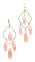 Kate Spade Lantern Gems Large Chandelier Earrings Cherry Quartz
