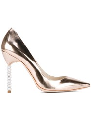 Sophia Webster Coco Crystal High Heel Pumps Metallic