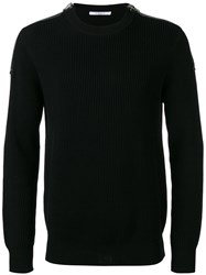 Givenchy Zip Shoulder Sweater Black