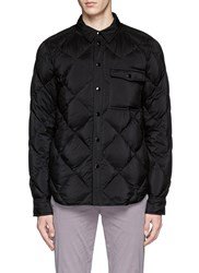 Rag And Bone 'Mallory Shirt' Quilted Down Puffer Jacket Black