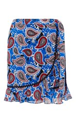 Dodo Bar Or Milo Ruffled Wrap Mini Skirt Print