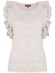 N.Peal Ruffled Sleeves Knit Top Nude And Neutrals