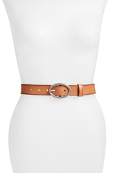 Lucky Brand 'The Loop' Leather Belt Saddle