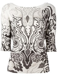 Etro Baroque Print Sweater Nude And Neutrals