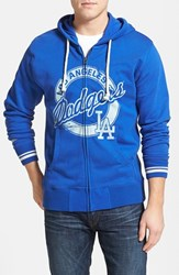 Men's Mitchell And Ness 'Los Angeles Dodgers' Full Zip Hoodie