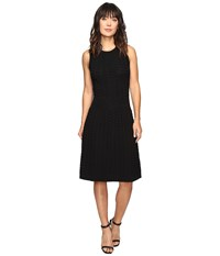 Ivanka Trump Fit And Flare Sweater Dress Black Women's Dress