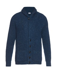 Raey Chunky Ribbed Knit Donegal Wool Blend Cardigan
