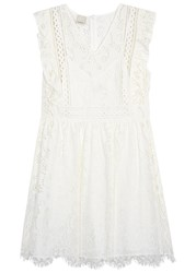 Pinko Ivory Lace Mini Dress White