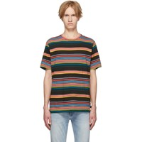 Paul Smith Ps By Multicolor Stripe T Shirt