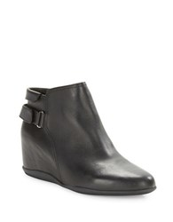 Me Too Harp Leather Wedge Ankle Boots Black