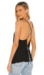 Krisa Open Back Tank In Black.