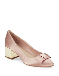 424 Fifth Darcy Satin Pumps Pink