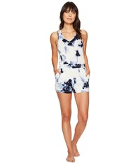 Lucky Brand Tie Dye Lounge Romper Muse Tie Dye Women's Jumpsuit And Rompers One Piece White
