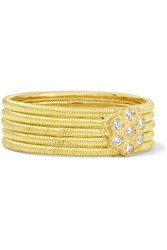 Buccellati Hawaii 18 Karat Gold Diamond Ring