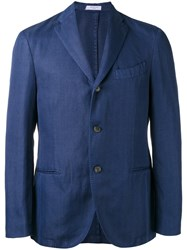 Boglioli Three Button Blazer Blue