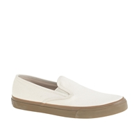 Sperry For J.Crew Cvo Slip On Sneakers In Seeded Canvas
