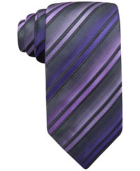 John Ashford Barrett Stripe Tie Only At Macy's Purple