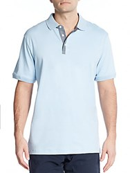 Michael Kors Chambray Trimmed Cotton Polo Mist