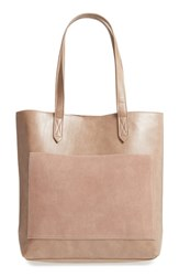Sole Society Trish Faux Leather Tote Beige Taupe