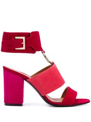 Via Roma 15 Ring Detail Heeled Sandals Red