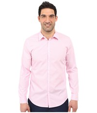 Calvin Klein Infinite Cool Slim Fit Pinstripe Shirt Cotton Candy Men's Long Sleeve Button Up Pink