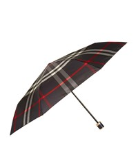Burberry Check Folding Umbrella Navy