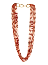 Diane Von Furstenberg Susan Coral Bead Multi Row Necklace