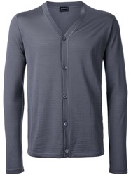 Jil Sander V Neck Cardigan Grey