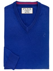 Thomas Pink Horseley V Neck Jumper Royal