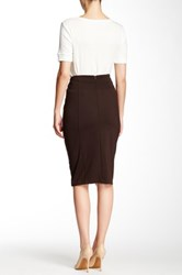 Insight Solid Skirt Brown