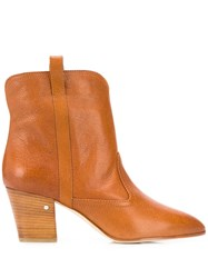 Laurence Dacade Block Heel Boots Leather Color