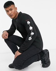 Bolongaro Trevor Skulls Sleeve Long Sleeve T Shirt Black