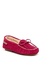 Bearpaw Ashlynn Wool And Genuine Sheepskin Lined Moccasin Pink