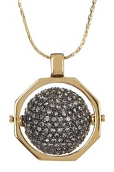 Louise Et Cie Jewelry Pave Crystal Ball Pendant Necklace Metallic