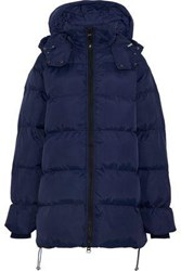 W118 By Walter Baker Monica Quilted Shell Hooded Coat Navy