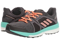 Adidas Supernova Sequence 9 Utility Black Tech Rust Metallic Easy Green Women's Running Shoes Gray