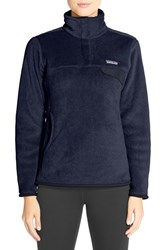 Patagonia Women's 'Re Tool' Snap Pullover Navy Blue Navy Blue X Dye