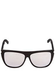 Saint Laurent New Wave Flat Top Mirrored Sunglasses