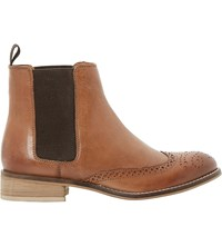 Dune Quentin Leather Ankle Boots Tan Leather