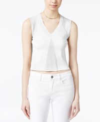 Rachel Roy V Neck Crop Top Only At Macy's White