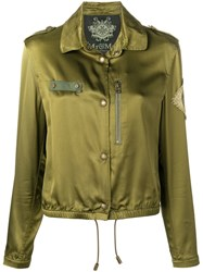 Mr And Mrs Italy Metallic Embroidered Jacket Green