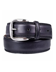 Manieri Black Smooth Leather Belt
