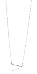 Jennifer Zeuner Jewelry Mini Wishbone Necklace Silver