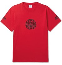 Vetements Printed Cotton Jersey T Shirt Red