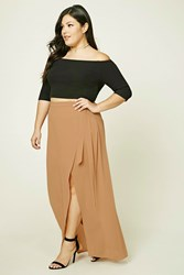 Forever 21 Plus Size Wrap Front Maxi Skirt