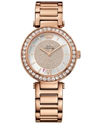 Juicy Couture Women's Rose Gold Tone Stainless Steel Bracelet Watch 34Mm 1901222