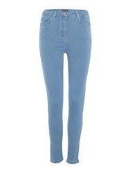 Pied A Terre Skinny Jeans With Ankle Zip Detail Denim