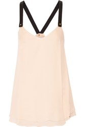 Derek Lam 10 Crosby By Stud Embellished Layered Silk Camisole Neutral